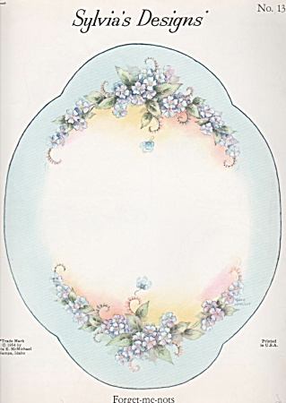 Forget-me-nots - Tray - Sylvia Mcmichael - Oop - 1954