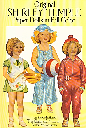 Original Shirley Temple Paper Dolls Color
