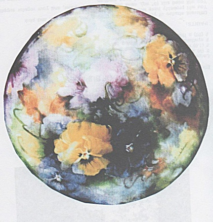 Zimbelman - Study Of Pansy - China Painting
