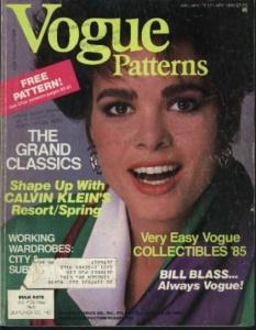 Vogue Pattern Magazine Book 1985 Calvin Klein
