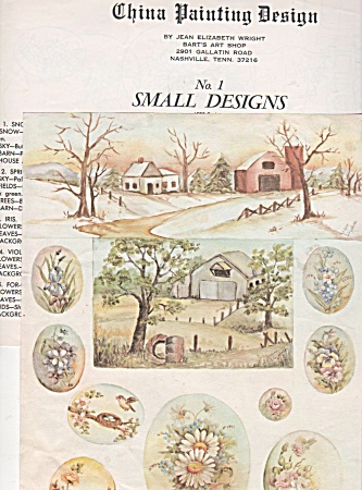 Vintage - 1973 - Jean Wright - Study - Small Designs -