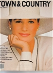 Click here to enlarge image and see more about item 010105z: Town and Country Magazine Jan 1989 Fashions +
