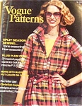 Click here to enlarge image and see more about item 011004KK2: 1976 VOGUE PATTERNS Magazine Book