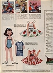Click here to enlarge image and see more about item 013405AS: 1958 Betsy McCall Paper Doll UNCUT VISITS