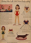 Click here to enlarge image and see more about item 015305A: 1957 Betsy McCall Linda TELLS STORY Paper Dol