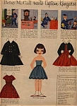 Click here to enlarge image and see more about item 020105LLM: 1957 Betsy McCall CAPTAIN KANGAROO Paper Doll