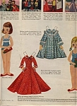 Click here to enlarge image and see more about item 020605BAA: BETSY McCall w/ BARBARA PAPER DOLL DOLLS 1956