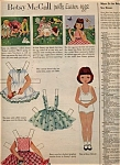 Click here to enlarge image and see more about item 020705LL: 1954 Betsy McCall EASTER EGGS Paper Doll UNCU