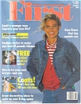 Click here to enlarge image and see more about item 031104FR: FIRST for WOMEN 1989 Fashions Knitting +++