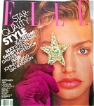 Click here to enlarge image and see more about item 031104X: 1989 ELLE Magazine HUGE Michaela Crawford