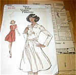 1970s Vogue Pattern Flared Dress UNCUT