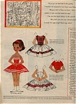 Click here to enlarge image and see more about item 033205KX: 1958 Betsy McCall Paper Doll UNCUT EASTER EGG