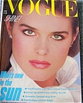 UK Vogue Magazine MAY 1982 Jackie Adams Cover
