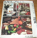 Click to view larger image of McCalls 1980 Holiday Craft Pattern 7274 UNCUT (Image1)