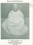 BYRON~CHRISTENING DRESS PATTERN~14 1/2IN