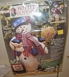 Click here to enlarge image and see more about item 080906A: CHRISTMAS TRIM MR SNOWMAN BY DIMENSIONS
