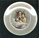Click here to enlarge image and see more about item 091703PPP: Cameo Limoges finish Baby - Angels Plate