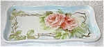 Click here to enlarge image and see more about item 091703Y: Handpainted Pink Rambling Rose Porcelain Tray