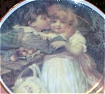 Click here to enlarge image and see more about item 091903BH: Victorian Children Porcelain Transfer Plate