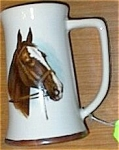 Click here to enlarge image and see more about item 091903HH1: HP Stallion Horse Head Beer Stein MINT