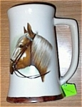 Click here to enlarge image and see more about item 091903HH4: HP Stallion Horse Head Beer Stein MINT
