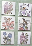 Click here to enlarge image and see more about item 091903PSL: Hand Painted Ceramic Tile Purple Fairy Girl