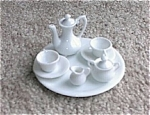 Click here to enlarge image and see more about item 093003A: Tiny Doll House HP Porcelain Tea Set