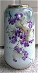 Click here to enlarge image and see more about item 093003b: Hand Painted CUSTOM Porcelain Vase