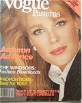 Click here to enlarge image and see more about item 111104B2: 1982 VOGUE Patterns Magazine BOOK Fashions ++