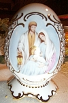 FAMOUS Large Porcelain EGG ~ Nativity Scene