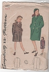 VINTAGE~SIMPLICITY~GIRLS COAT PATTERN~1197