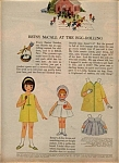 Click here to enlarge image and see more about item 123105AW: 1964 Betsy McCall - Linda EGG ROLL Paper Doll