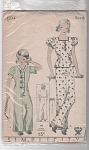 Click here to enlarge image and see more about item 1334: VINTAGE HIGH STYLE LOUNGING PAJAMAS~SZ6