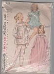 Click here to enlarge image and see more about item 1828: 1956~VINTAGE~ SMOCK TOP PJ'S~NIGHTGOWN
