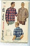Click to view larger image of VINTAGE SIMPLICITY MEN'S SHIRT 1940'S (Image1)
