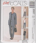 McCalls 2027~CARDIGAN~TOP~PANTS~SKIRT~OOP