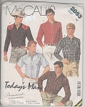 Click to view larger image of VINTAGE~WESTERN STYLE MENS'SHIRTS~UNCUT~OOP (Image1)