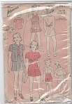 ADVANCE PATTERN 2087~VINTAGE~GIRLS PLAY SUITS