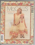 Click here to enlarge image and see more about item 2102: MCCALL~MOMMY & ME~SEWING PATTERN~SUMMER DRESS