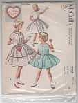 VINTAGE~1957~GIRLS DRESS PATTERN~2157