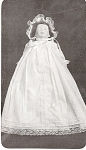 Click here to enlarge image and see more about item 2416: Bell Body Christening Gown and Bonnet~15 INCH