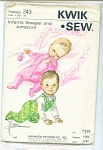 VINTAGE~KWIK-SEW~INFANTS~SLEEPERS PATTERN