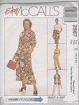 Click to view larger image of McCalls Pattern 2567~10-14 Misses~Top,Skirt,P (Image1)