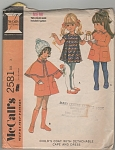 McCall's ~Sz 3~CHILDS COAT~2581