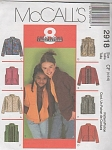 McCall's 2918 Children's Girls' Jacket~ Vest