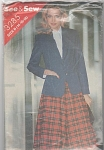 See & Sew 3285 Misses Jacket & Skirt Pattern