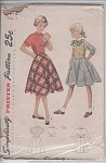 Click to view larger image of VINTAGE~SIMPLICITY~GIRLS 1 PC DRESS W/WESKIT~ (Image1)