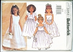 Click here to enlarge image and see more about item 3351B: BUTTERICK PATTERN 3351 PARTY DRESS 6,7,8
