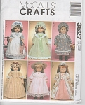 "Click here to enlarge image and see more about item 3627: 18"" Doll~American Girl Doll Pattern-McCall 36"