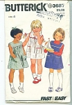 VINTAGE BUTTERICK GIRLS DRESS SZ4